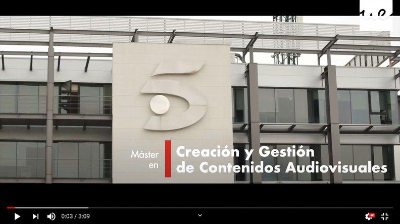 Video Máster en Contenidos Audiovisuales