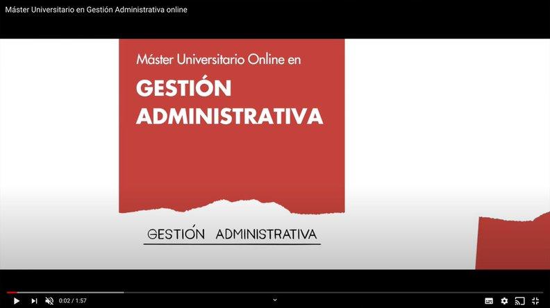 Master Universitario en Gestion Administrativa - Online