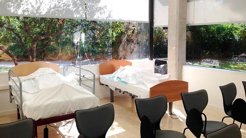 Aula de cuidados de enfermería Universidad Europea de Valencia - Sala de hospitalización