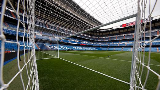 Portería del estadio Santiago Bernabéu