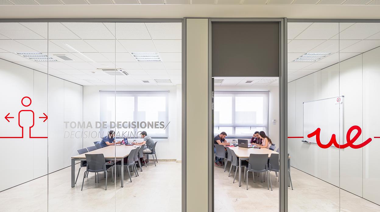 Sala de trabajo para estudiantes Unviersidad Europea de Madrid